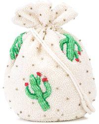 Ganni - Beaded Cactus Bucket Bag - Lyst