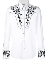 DSquared² - Floral Sequin-embellished Shirt - Lyst