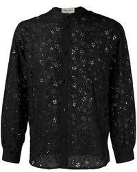 Saint Laurent - Star Embroidered Shirt - Lyst
