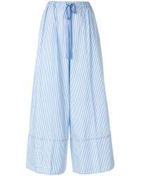 Fendi - Wide-leg Striped Trousers - Lyst
