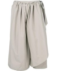 Chalayan - Cropped Flared Trousers - Lyst