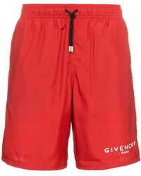Givenchy - Paris Logo Swim Shorts - Lyst