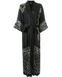 P.A.R.O.S.H. - Embroidered Wrap Coat - Lyst