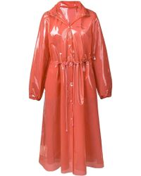 Marine Serre - Hooded Pvc Raincoat - Lyst