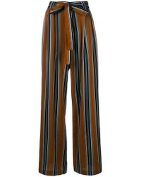 Roberto Collina | Striped High Waisted Trousers | Lyst