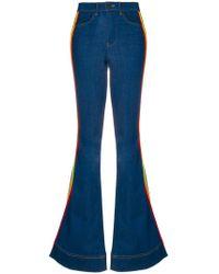 Alice + Olivia - Rainbow Side Panel Flared Jeans - Lyst