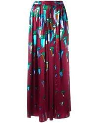 Tsumori Chisato - Crystal Diamond Print Pleated Long Skirt - Lyst