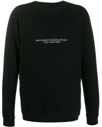 Unravel Project Slogan Print Longline Sweatshirt - Black