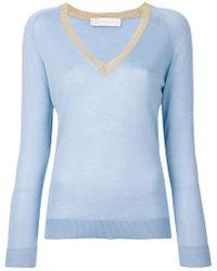 Giada Benincasa - V-neck Fine Knit Top - Lyst