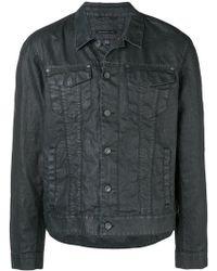 John Varvatos - Buttoned Shirt Jacket - Lyst