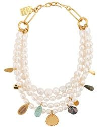 Lizzie Fortunato Mixed Charm Necklace - White