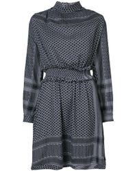 Cecilie Copenhagen - Patterned High Neck Dress - Lyst