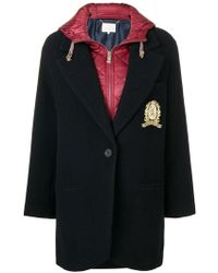 Tommy Hilfiger - Contrast Single-breasted Coat - Lyst