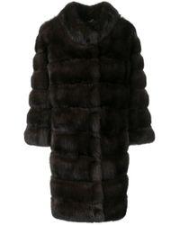 Cara Mila - Sabina Sable Fur Coat - Lyst
