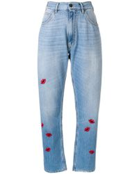 Vivetta - Lip Embroidered Jeans - Lyst