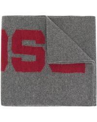 DSquared² - Logo Knitted Scarf - Lyst