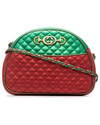 Gucci - Red And Green Trapuntata Quilted Metallic Leather Cross Body Bag -  Lyst 1f395f5b10e82