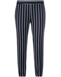 Thom Browne - Chenille Banker Stripe Lowrise Skinny Trouser - Lyst