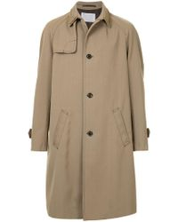 Kolor - Chain Collar Single-breasted Coat - Lyst