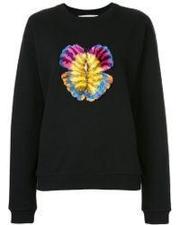 Mary Katrantzou - Butterfly Embroidered Sweatshirt - Lyst