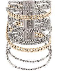 John Hardy - Adwoa Aboah 18kt Yellow Gold And Silver Classic Chain Multi-row Bracelet - Lyst