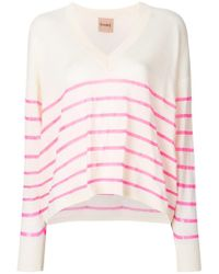 Nude - V-neck Sweater - Lyst