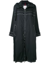 Moncler - Zipped Hooded Coat - Lyst