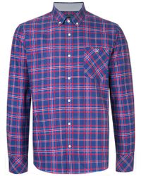 Guild Prime - Striped Collared Shirt - Lyst