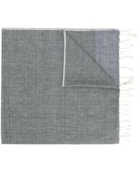 Closed - Fringed Woven Scarf - Lyst