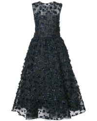 Oscar de la Renta Embellished sleeveless midi dress