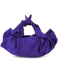 The Row | Ascot Knotted Satin Bag | Lyst