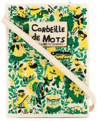 Olympia Le-Tan - Bolso de mano estilo libro Corbeille De Mots - Lyst