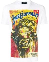 DSquared² - The Lone Buffalo Print T-shirt - Lyst