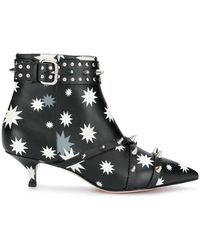 b1172b783 RED Valentino - Red(v) Printed Ankle Boots - Lyst