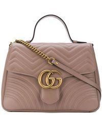 Gucci - GG Marmont Medium Top Handle Bag - Lyst
