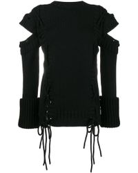 Alexander McQueen - Jumper With Cut Out Arms And Side Ties - Lyst