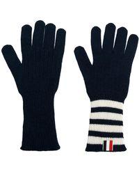 Thom Browne - Striped Rib Cuff Gloves - Lyst