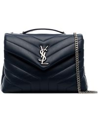 Saint Laurent - Midnight Blue Loulou Small Quilted Leather Shoulder Bag - Lyst