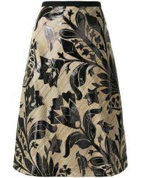 ODEEH - Floral Print A-line Skirt - Lyst