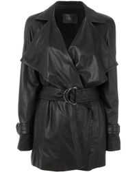 DROMe - Belted Trench Coat - Lyst