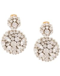 Oscar de la Renta - Jeweled Disc Earrings - Lyst