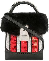 the VOLON - Sequin Box Bag - Lyst