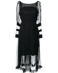 RED Valentino - Tulle Panel Dress - Lyst