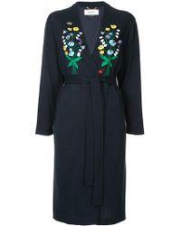 MUVEIL - Embroidered Kimono Coat - Lyst