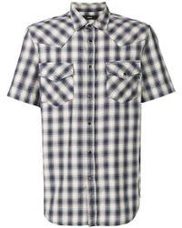 DIESEL - Checked Short Sleeve Shirt - Lyst