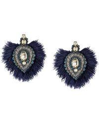 Tory Burch - Crystal Embellished Earrings - Lyst