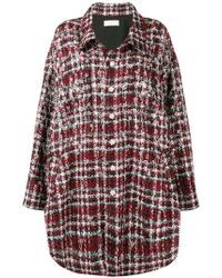 Faith Connexion - Embellished Checked Coat - Lyst