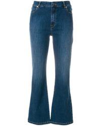 Vivetta - Heart Embellished Kick Flare Jeans - Lyst