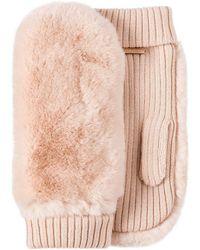 Miu Miu - Fur Embellished Gloves - Lyst
