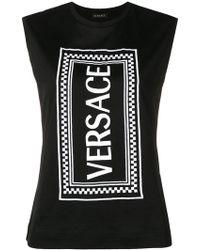 Versace - Logo Printed Vest Top - Lyst